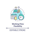 working time flexibility concept icon vector image vector image