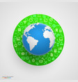 world globe with app icons vector image vector image
