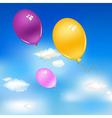 Balloons In Sky vector image