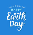 happy earth day poster template vector image