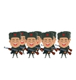 Army Soldiers Silhouette vector image