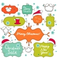 Collection of christmas decorative elements vector image