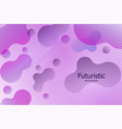 abstract poster with liquid bubbles geometric vector image vector image