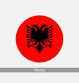 albania round circle flag