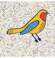 An of beautiful colorful bird vector image vector image