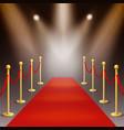 award ceremony red carpet illuminated