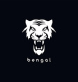 bengal white tiger logotype vector image vector image