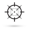 black crosshair icon vector image