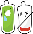 Blood Bags vector image vector image