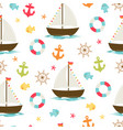 boat cute seamless pattern vector image