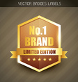 brand label vector image vector image