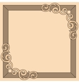Brown decorative ornate frame vector image vector image