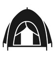 camp tent icon simple style vector image