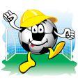 cartoon soccer icon vector image vector image