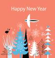 Christmas greeting card with Christmas trees vector image vector image