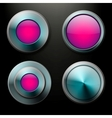 Color glass buttons set vector image