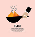 Cooking With Frying Pan vector image vector image