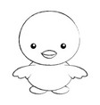 cute sketch draw chick cartoon vector image vector image
