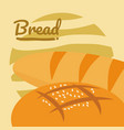 delicious bread cartoon vector image vector image