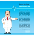 Design template with funny doctor vector image vector image