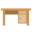 desk icon with flat style eps10 vector image