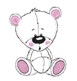 Drawing Teddy vector image vector image
