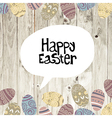 Easter card wooden background