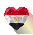 egyptian heart flag of the egypt vector image
