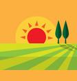 evening farmland flat icon design sign symbol vector image vector image