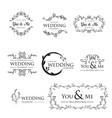 feminine floral wedding logo collection vector image vector image
