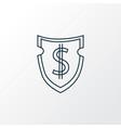 financial insurance icon line symbol premium vector image