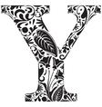 Floral Y vector image vector image