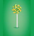 green background with candy vector image