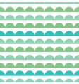 green blue scallops stripes seamless repeat vector image vector image