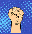 hand showing fist deaf-mute gesture human arm hold vector image vector image