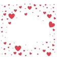 heart love card decoration vector image