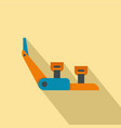 hiking equipment icon flat style vector image vector image