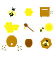 honey on the set online icons colour vector image vector image