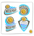 icons for water polo vector image vector image