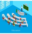 Isometric Educational Process Lecture Room vector image vector image
