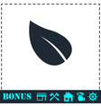 Leaf icon flat vector image vector image