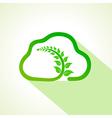 leaf inside the eco cloud vector image
