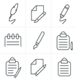 Line Icons Style Writing icons vector image vector image
