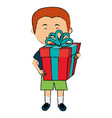 little boy with gift vector image