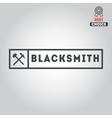 Logo for blacksmith typographic logotype badge vector image vector image