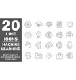 machine learning simple concept icons set vector image vector image