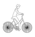 man riding bicycle vector image vector image