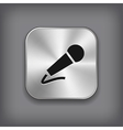 Microphone icon - metal app button