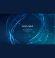music abstract background blue equalizer vector image