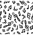music notes seamless pattern vector image vector image